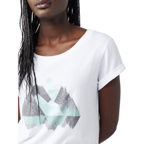 tentree Geo Mountain Camiseta Mujer, white